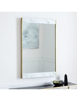 Marble + Brass Wall Mirror by West Elm