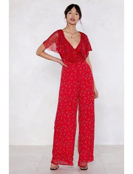 Kick Some Bud Floral Jumpsuit by Nasty Gal