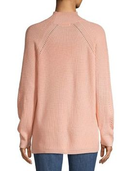 Long Sleeve Mockneck Sweater by Calvin Klein