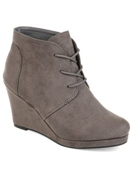 Journee Collection Women's 'enter' Faux Suede Wedge Booties by Journee Collection