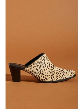 Matisse Leopard Print Calf Hair Mules by Anthropologie