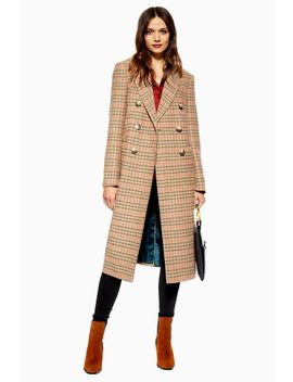 Check Coat by Topshop