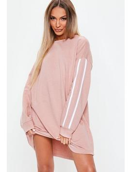 Pink Side Stripe Sweater Dress by Missguided