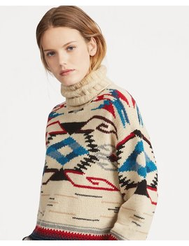 Wool Blend Turtleneck Sweater by Ralph Lauren