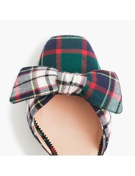 Harlow Ankle Strap Pumps In Festive Plaid With Glitter Heel by J.Crew