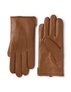Men's Cashmere Lined Leather Gloves by Lands' End