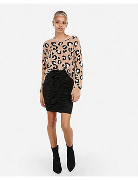 Ruched Mini Pencil Skirt by Express