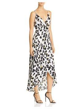 Leopard Print Faux Wrap Dress   100 Percents Exclusive by Aqua