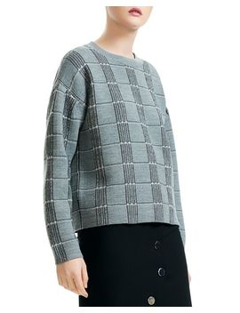 Mission Check Pattern Sweater by Maje