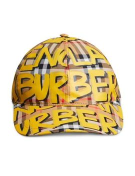 Marker Pen Check Baseball Cap by Burberry