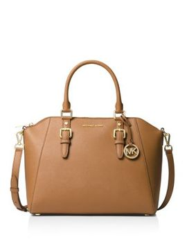 Ciara Large Leather Satchel by Michael Michael Kors