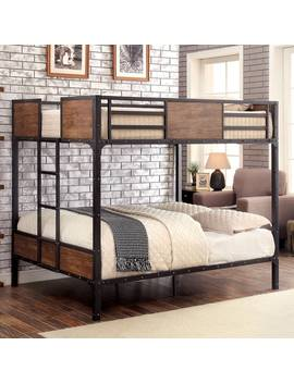 Furniture Of America Markain Industrial Metal Bunk Bed by Furniture Of America