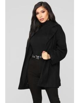 Uly Cozy Coat   Black by Fashion Nova