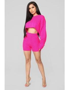 Figueroa Set   Neon Pink by Fashion Nova