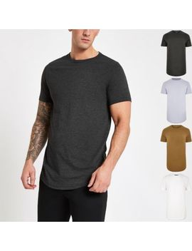 Black Slim Fit T Shirt Multipack by River Island