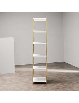 Zane Narrow Bookshelf   White by West Elm