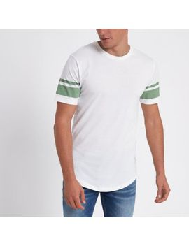 Only & Sons White Stripe T Shirt by River Island