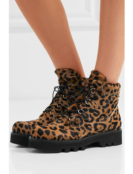 Neir Leopard Print Calf Hair Ankle Boots by Tabitha Simmons