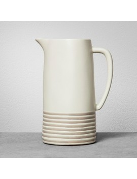 Stoneware Pitcher   Gray Stripe   Hearth & Hand™ With Magnolia by Shop This Collection