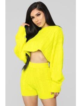Figueroa Set   Neon Yellow by Fashion Nova