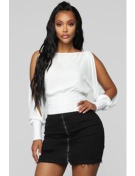No Reason To Hide Top   White by Fashion Nova