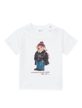 University Bear Cotton T Shirt by Ralph Lauren