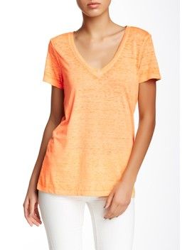 Vintage Wash V Neck Tee by Threads 4 Thought