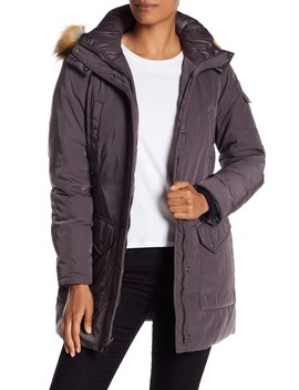 Willow Faux Fur Trim Parka by Andrew Marc