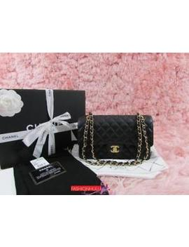 2015 Chanel 2.55 Classic Black Caviar Medium Classic Flap Bag Gold Hw by Chanel