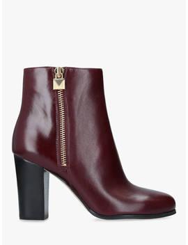Michael Michael Kors Margaret Block Heel Ankle Boots, Dark Red Leather by Michael Kors