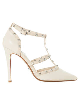Dune Bridal Collection Daenerys Studded Cut Out Court Shoes, Ivory by Dune