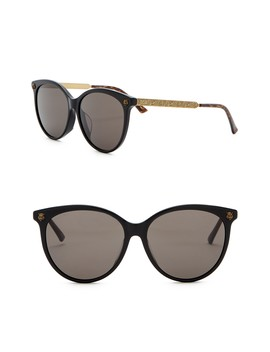 57mm Rounded Sunglasses by Gucci