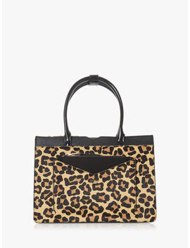 Dune Daran Leather Tote Bag, Leopard by Dune