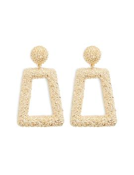 Textured Trapezoid Drop Earrings by Forever 21