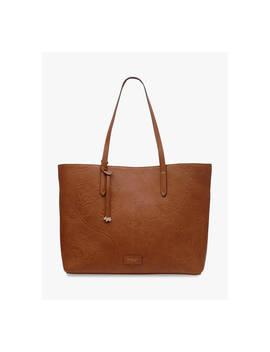 Radley Sanderson Floral Leather Tote Bag, Tan by Radley