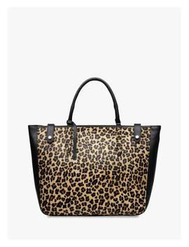 Radley Witley Large Open Top Leather Grab Bag, Leopard/Black by Radley