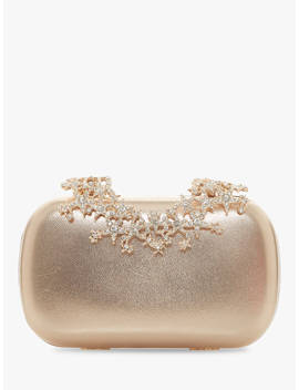 Dune Bstarry Leather Evening Clutch Bag, Gold by Dune