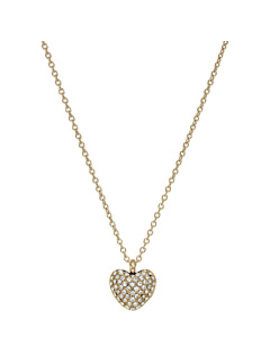 Pavé Carved Heart Pendant Necklace by Michael Kors