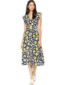 Silk Garden Floral Midi Dress by Juicy Couture