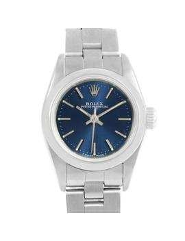 Rolex Oyster Perpetual Nondate Ladies Steel Blue Dial Watch 67180 by Rolex