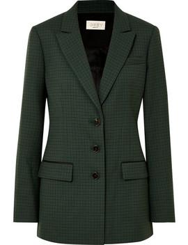 Milano Checked Twill Blazer by Jason Wu Grey