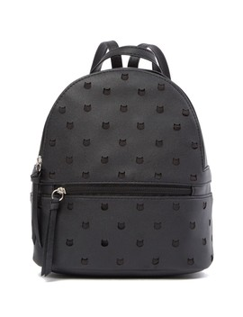 Perforated Cat Small Backpack by T Shirt & Jeans