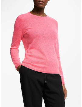 John Lewis & Partners Cashmere Crew Neck Sweater, Rose by John Lewis & Partners