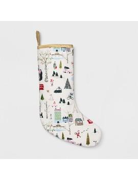 Holiday Stocking Winter City Scene   Opalhouse™ by Opalhouse