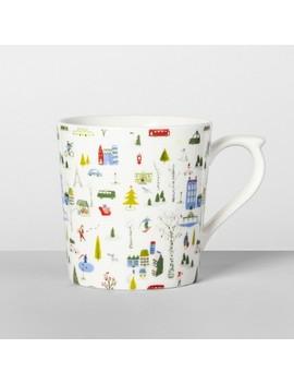 16oz Porcelain Cityscape Mug   Opalhouse™ by Opalhouse