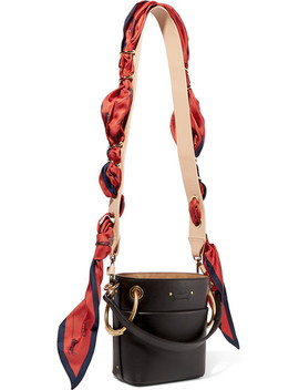 Leather And Printed Silk Satin Bag Strap by Chloé