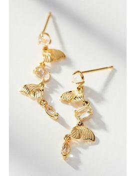 Mini Butterfly Drop Earrings by Anthropologie
