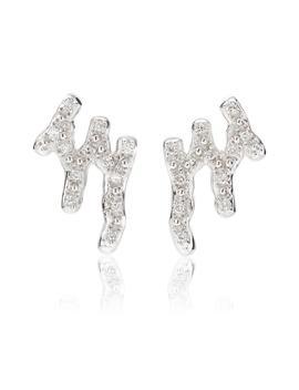 Riva Waterfall Diamond Stud Earrings by Monica Vinader