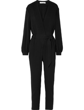Frame Belted Crepe Jumpsuit by Iro