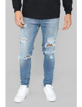 Stephen Skinny Jeans   Medium Wash by Fashion Nova